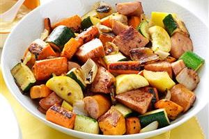 Recipe of the Month: Roasted Kielbasa & Vegetables