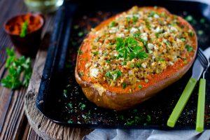 Gluten Free Quinoa Stuffed Pumpkin