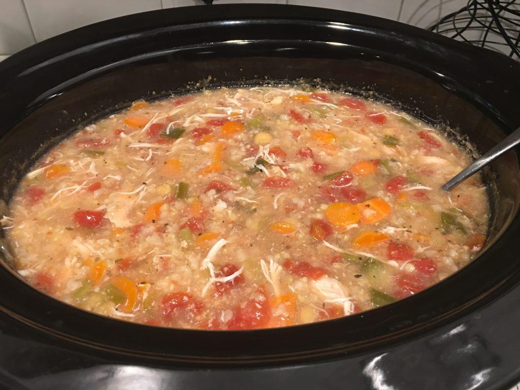 mediterranean chicken stew in slow cooker
