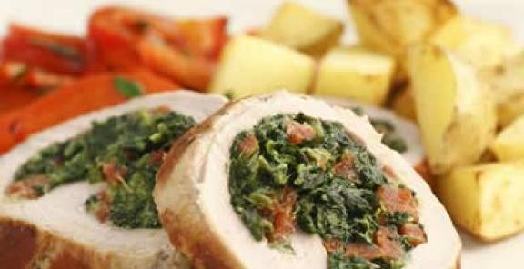 Healthy Tailgate Recipe- Chorizo-Stuffed Pork Tenderloin