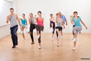 group of people exercising