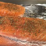 Easy Weeknight Dinner: Roasted Salmon With Zucchini Noodles