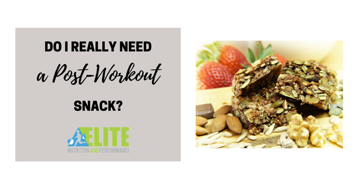 Do I Really Need A Post-Workout Snack?