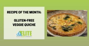 Kristen Ziesmer, Sports Dietitian - Recipe of the Month, Gluten-Free Veggie Quiche