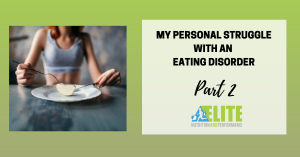 Kristen Ziesmer, Sports Dietitian - My Personal Struggle with an Eating Disorder, Part 2