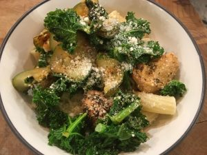 Kristen Ziesmer, Sports Dietitian - Zucchini Kale and Chicken Pasta Bowl Recipe
