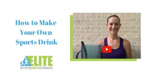 Kristen Ziesmer, Sports Dietitian - How to make your own sports drink