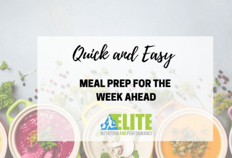 Quick and Easy Meal Prep for the Week Ahead