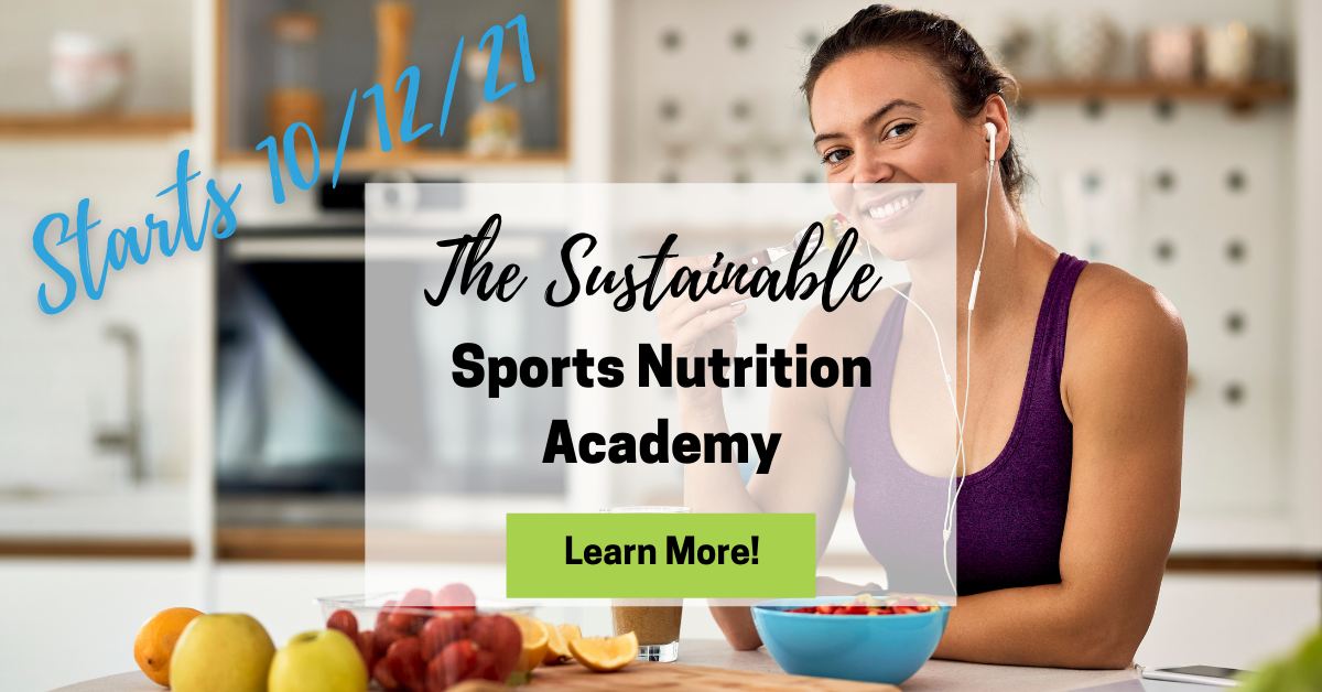 Sustainable sports nutrition academy